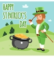 Cartooned Happy St Patrick Day Poster vector image