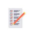 checklist icon vector image