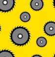 Circular saw blade seamless wallpaper vector image
