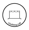 Clothing rail with hangers icon vector image vector image