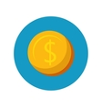 coin money shop concept icon design vector image