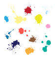 colored paint splashes vector image vector image