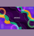 colorful gradient abstract fluid background vector image vector image