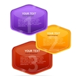 colorful text box vector image vector image
