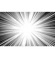 comic book background black and white radial vector image