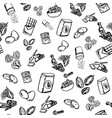 cookie ingredients pattern on white background vector image vector image