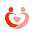 couple in love swoosh symbol vector image