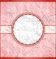 Crumpled vintage lace frame vector image vector image