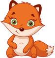 cute fox cub vector image vector image