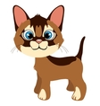 Cute ginger cat with blue eyes cartoon pet vector image vector image