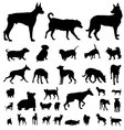 Dog silhouette set vector | Price: 1 Credit (USD $1)