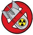 doodle bomb no nuke vector image vector image