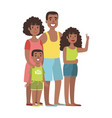 father mother teenage daughter and young son vector image vector image