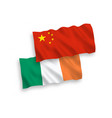 flags ireland and china on a white background vector image