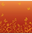 gold flowers vector image vector image
