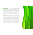 Green waves paper sheets vector image vector image