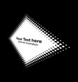 halftone rhombus perspective frame dots logo vector image vector image