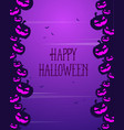 halloween greeting card style collection vector image