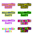 halloween sign holiday greeting and original text vector image vector image