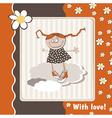 Happy Birthday daisies vector image vector image