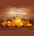 happy thanksgiving card with autumn vegetables vector image vector image