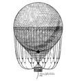 henri giffard balloon vector image vector image