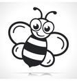 honey bee black cartoon vector image vector image