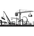 Industrial construction scene vector image vector image