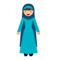 islamic woman culture icon vector image vector image