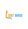 light house ocean logo vector image