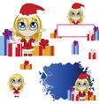 Little elf banner red vector image vector image