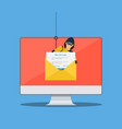login into account in email envelope vector image vector image