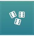 Lucky dices casino gambling game jackpot vector image