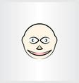 man face clipart design vector image vector image
