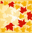 maple leaves in triangular style vector image vector image