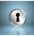 Metal keyhole icon vector image