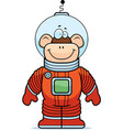 monkey astronaut vector image vector image