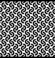 monochrome rounded lines seamless pattern vector image vector image