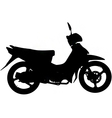 moped silhouette vector image vector image