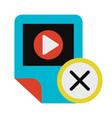 multimedia player removal app deletion glyph icon vector image vector image