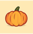 orange pumpkin isolated on beige background cute vector image vector image