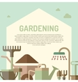 poster gardening vector image vector image