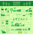 Power energy industry infographic electric systems vector image