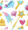 princess with fairy elements unicorn and magic vector image vector image