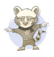 raccoon character cartoon style vector image