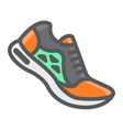 running shoes filled outline icon fitness vector image vector image