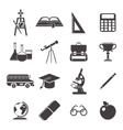 School Black Icon Set vector image vector image