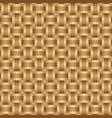 seamless pattern braided brown ribbon vector image vector image
