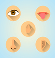 senses icons vector image vector image