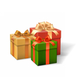 set gift boxes different colors vector image vector image